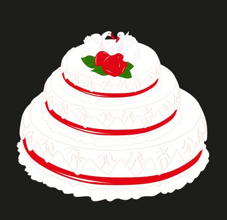 Wedding cake Stock Vector - 8056266