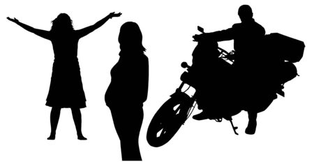 silhouettes of the people Vector