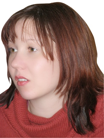 Portrait of the beautiful young woman, close up