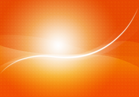 Beautiful orange abstract background with highlights, illustration