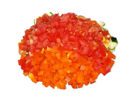 diced: Different diced vegetables