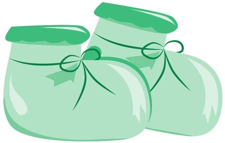 光の緑のブーツ  イラスト・ベクター素材