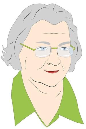 Portrait einer älteren Frau in Gläsern