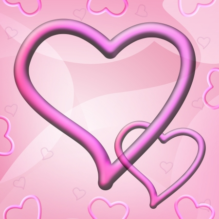 Romantic abstract background with pink hearts Valentines Day Stock Photo