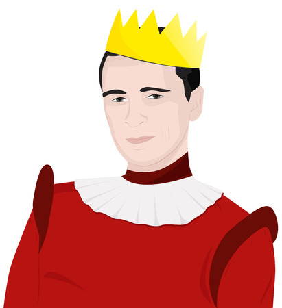 Portrait of a good-natured man in the crown