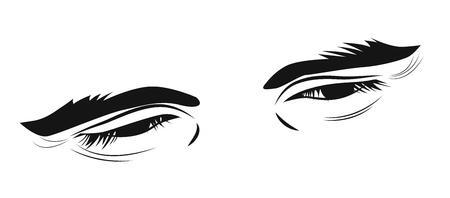 Sketch, good natured male look, vector illustration