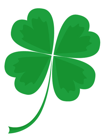 four: leaf clover with four petals, vector illustration
