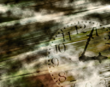 aged: The aged abstract background with clock face Stock Photo