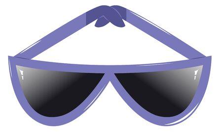 rim: Sunglasses with purple rim Illustration