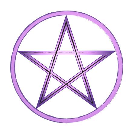 Prachtig paars pentagram