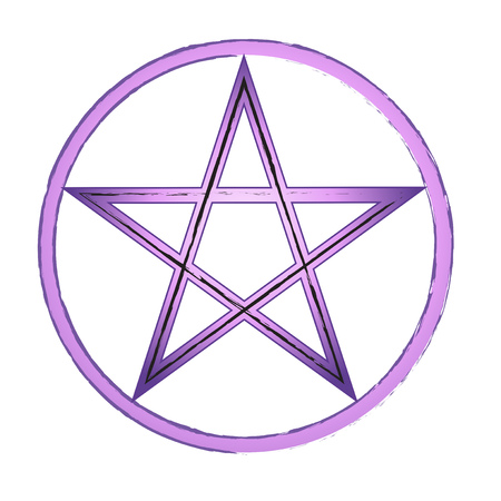 Beautiful purple pentagram