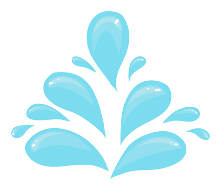 Pattern from water drops of different sizes. Cartoon vector illustration