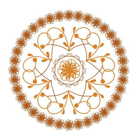 Round ornate vintage pattern, mandala. Vector illustration Illustration