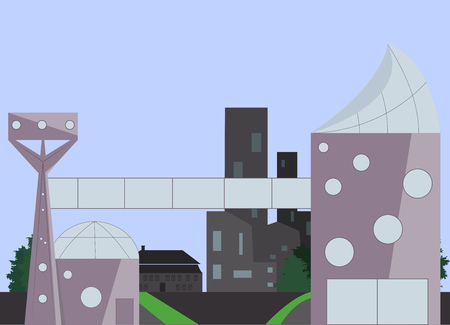 Abstract city of the future Vector illustration Illustration