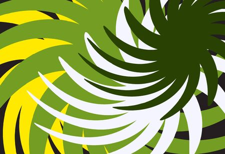 Abstract yellow green background with swirls, imitation of the jungle. Vector illustration