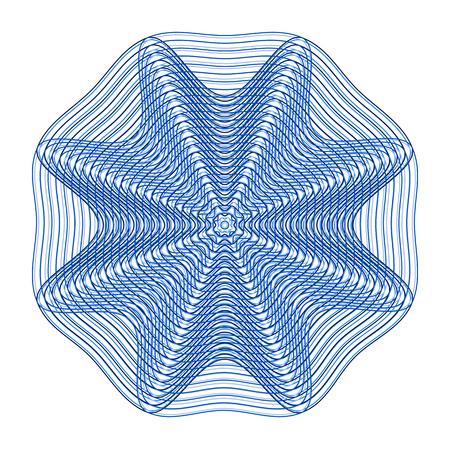 Abstract mesh pattern, blue floral design. Vector illustration 向量圖像
