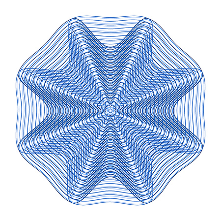Abstract mesh pattern, blue floral design. Vector illustration Illustration