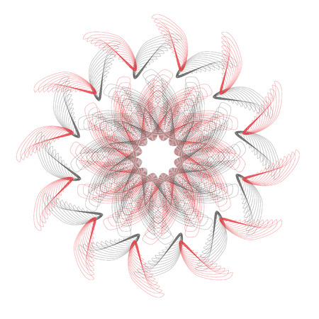 Abstract mesh pattern, floral design. Vector illustration