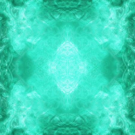 Beautiful abstract mystic background in turquoise color. 스톡 콘텐츠