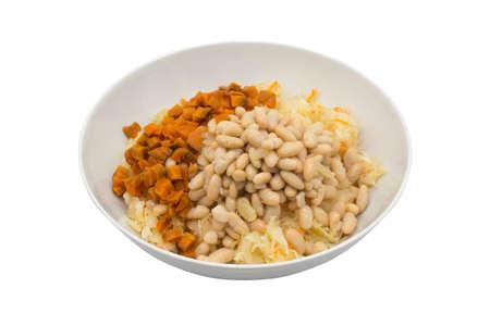 Ingredients for vegetable salad in a large bowl 免版税图像