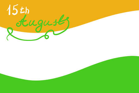 Flag of India with the words