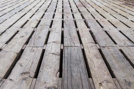 The platform made of boards. Background