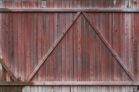 Fragment of the old wooden painted gate. Background 版權商用圖片