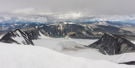 View from Mount Glitterthind to Grasubreen Glacier, Jotunheimen National Park, Norway
