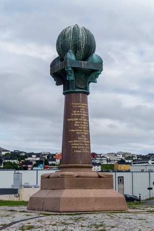 The northernmost station of the Struve Geodetic Arc, Hammerfest, Norway