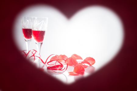 Valentines Day. Frame in the form of heart Stock Photo