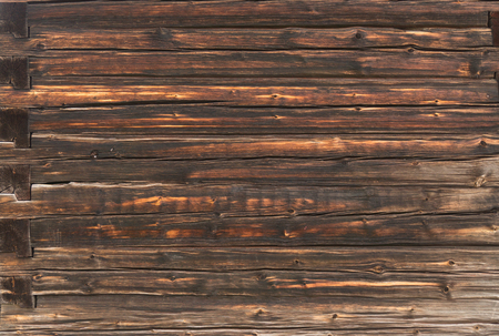 The wall of an old log house. Background 版權商用圖片 - 96219228