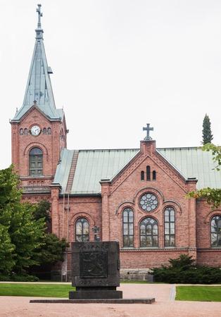 Jyvaskyla City Church in summer, Finland