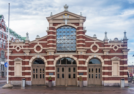 Old Market Hall, Vanha kauppahalli in the center of Helsinki, Finland