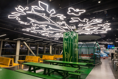 Amsterdam, Netherlands - August 26, 2017: Interior of Schiphol AAmsterdam, Netherlands - August 26, 2017: Interior of Schiphol Airport in Amsterdam Editorial
