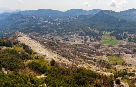 Mountain landscape of National park Lovcen in summer, Montenegro
