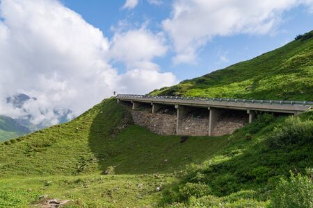 Picturesque surroundings of Grossglockner High Alpine Road in summer, Austria Фото со стока