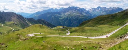 Grossglockner High Alpine Road, Hochalpenstrasse, panoramic scenic tourist route in Austrian Alps