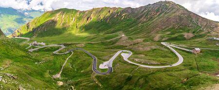 Grossglockner High Alpine Road, Hochalpenstrasse, panoramic scenic tourist route in Austrian Alps