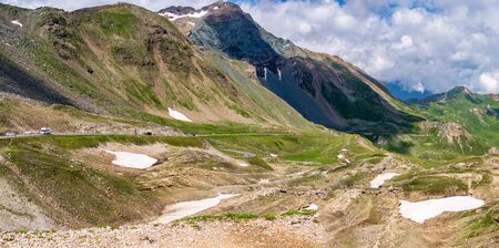 Panoramic Grossglockner High Alpine Road, Hochalpenstrasse, scenic mountain landscape, Austrian Alps
