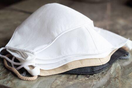 Stack of homemade protective reusable antiviral masks