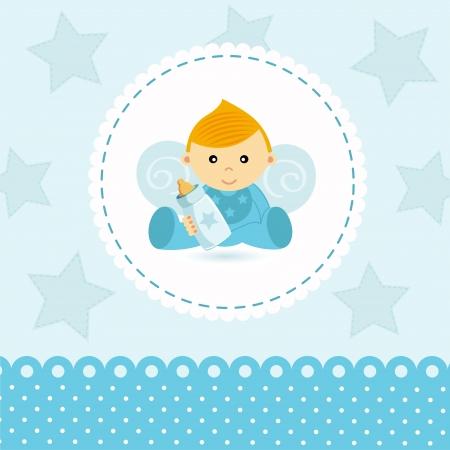 baby angel: Little Boy vettore bambino