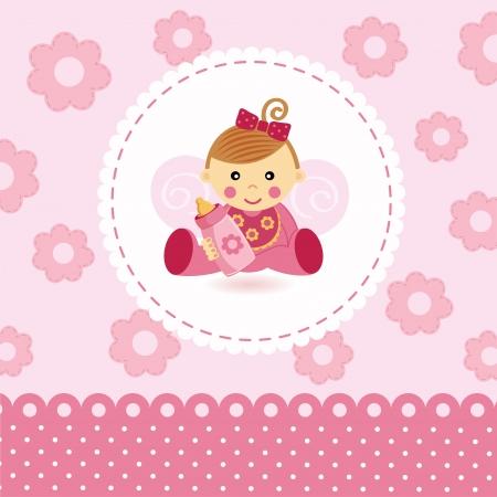 baby angel: bambina vettore bambino
