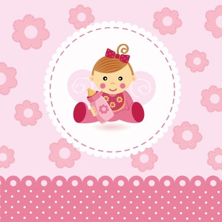 baby angel: little girl baby vector