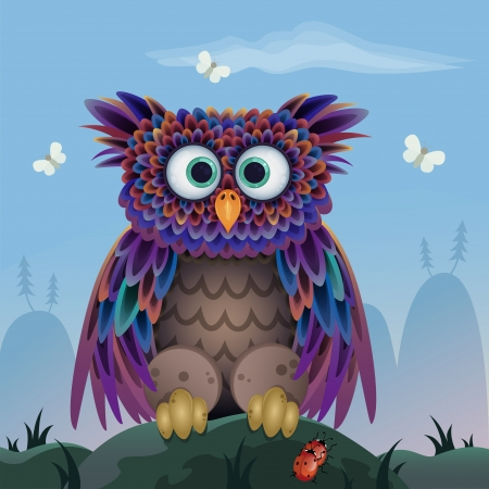 hibou: hibou mignon Illustration