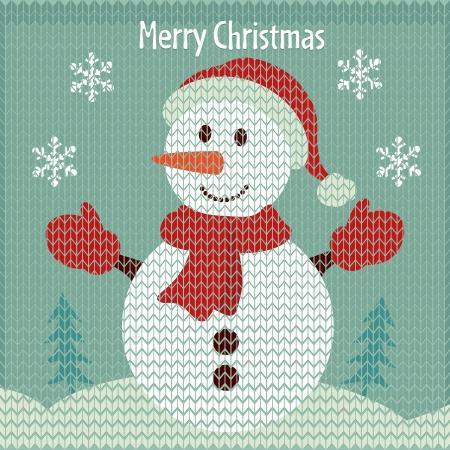 Bonhomme de neige de Noël Vecteurs