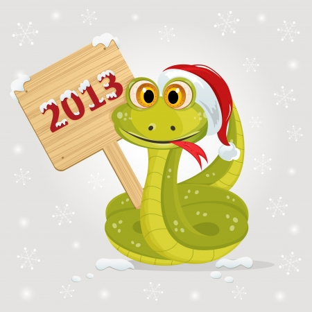 snake symbol: snake symbol of 2013 year Illustration