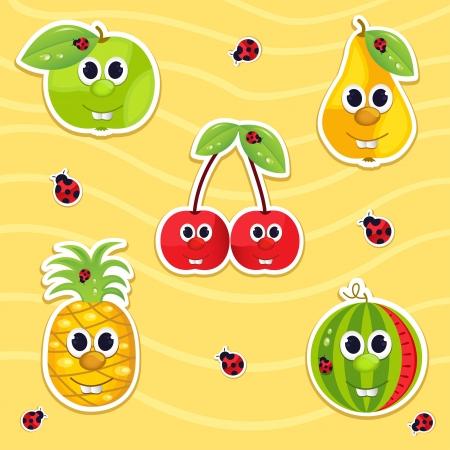vector icon set fruit Vector
