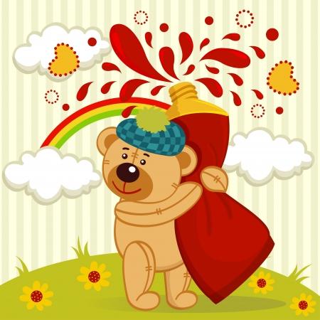 teddy bear artist Stock Vector - 17836813