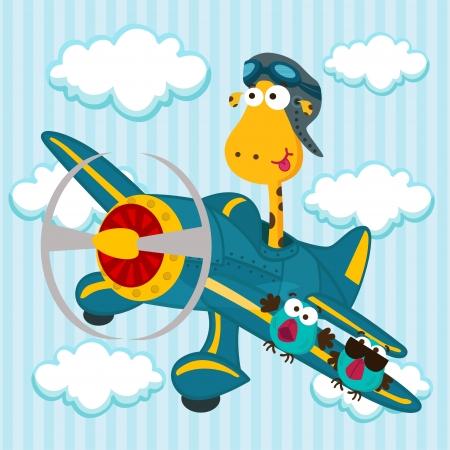 giraffe on a airplane