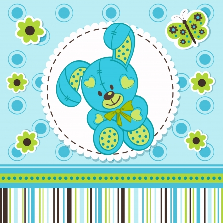 baby boy rabbit Vector